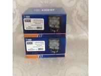 2 X Square led work lamps