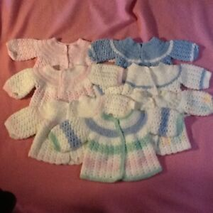 Crocheted Baby Sweaters
