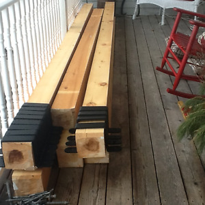 6x6 dressed pine beams