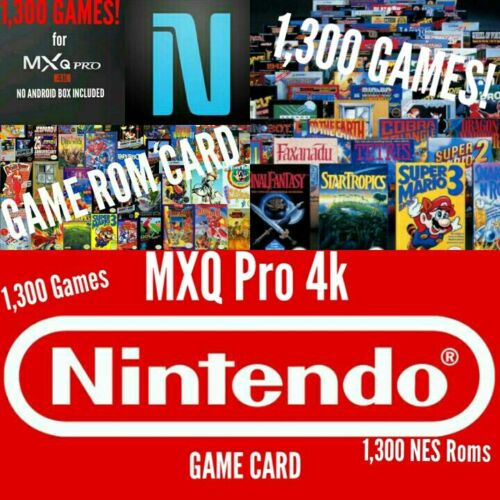 MXQ PRO 4k ANDROID S905X TV BOX - NES GAME CARD WITH 1,300 GAMES! (Game  Card)