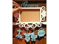 Picture frame as your baby's name