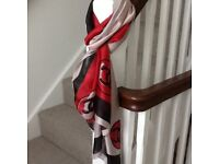 Chanel and Louis Vuitton scarves/shawl 100% silk BNWT 90 x 180