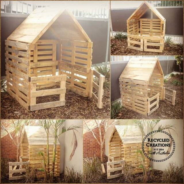 Simple Pallet Cubby House Toys Outdoor Gumtree