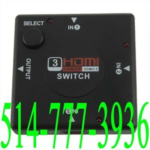 3Port 1080P HDMI Switch Video Selector Hub PS3 PS4 XBOX ONE DVD