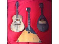 3 x classical mandolins/guitars.
