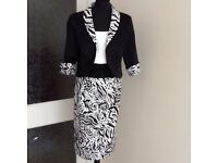 BRAND NEW ZEILA MOTHER IF THE BRIDE/GROOM OUTFIT, SIZE 16 & 18, BLACK/WHITE