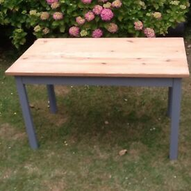 Old scrub pine kitchen table