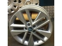 "Skoda Fabia NEW GENUINE OE 17"" Clubber Silver Alloy Wheels 6V0 071 497 8Z8"