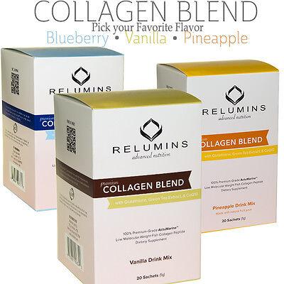 Relumins Collagen Type I & III Drink Mix - Skin Whitening + Anti-Aging 10/20Pack