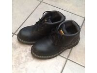 Dr Martins steel cap boots size 3