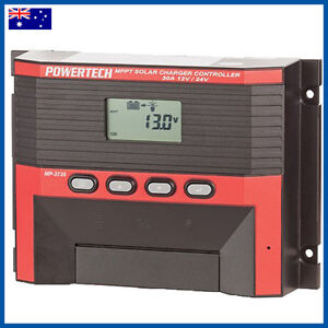 POWERTECH 12V/24V 30A MPPT Solar Regulator - Charge Controller - LATEST MODEL