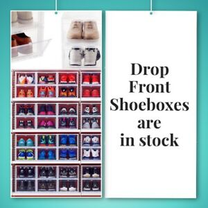 Drop front containers shoe boxes Nike Jordan adidas Yeezy