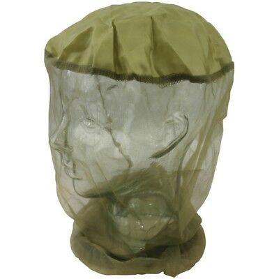 (MOSQUITO HEAD NET BRITISH ARMY STYLE PROTECTIVE HEAD FACE WEAR MESH HAT INSECT)