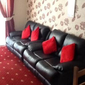 Two, Two Seater Leather Sofa's