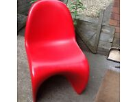 Retro 60s Panton style red chair