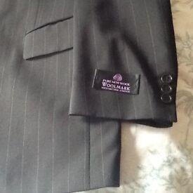 Black pinstriped jacket