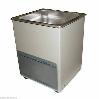 New Sonicor Stainless Steel Tabletop Ultrasonic Cleaner 0.5 Gal Capacity S-50
