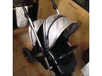 Oyster max 2 double pushchair in grey ( one of the latest oyster max 2) / can post