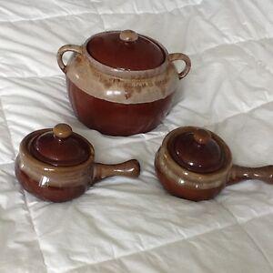 Crockpot, Bean Pot, Onion Soup Bowls