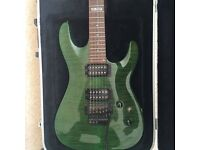 ESP - Ltd MH-100QM electric guitar for sale with hard case. (Also included with an EVH detuner)