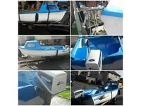 14ft fibreglass day boat/fishing boat