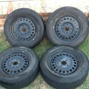 Four 15' Steel Rims with 185 65 15 tyres. 4 X 100 Stud pattern. Prestons Liverpool Area Preview