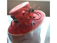 Beautiful red mother of the bride hat