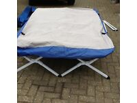 Fold-out (collapsable) Double Bed + Double Mattress (inflatable ) + Pump + Bag