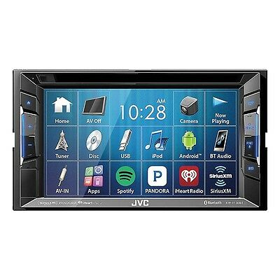 $180.00 - JVC KW-V130BT  Double Din BT In-Dash DVD/CD/AM/FM Car Stereo w/6.2