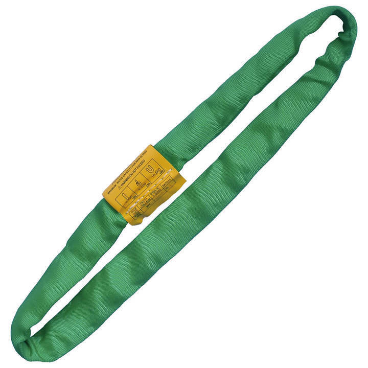 Endless Round Lifting Sling Heavy Duty Polyester Green 8
