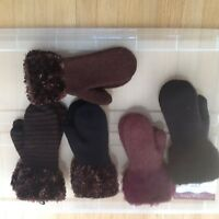 Ladies felted mitts