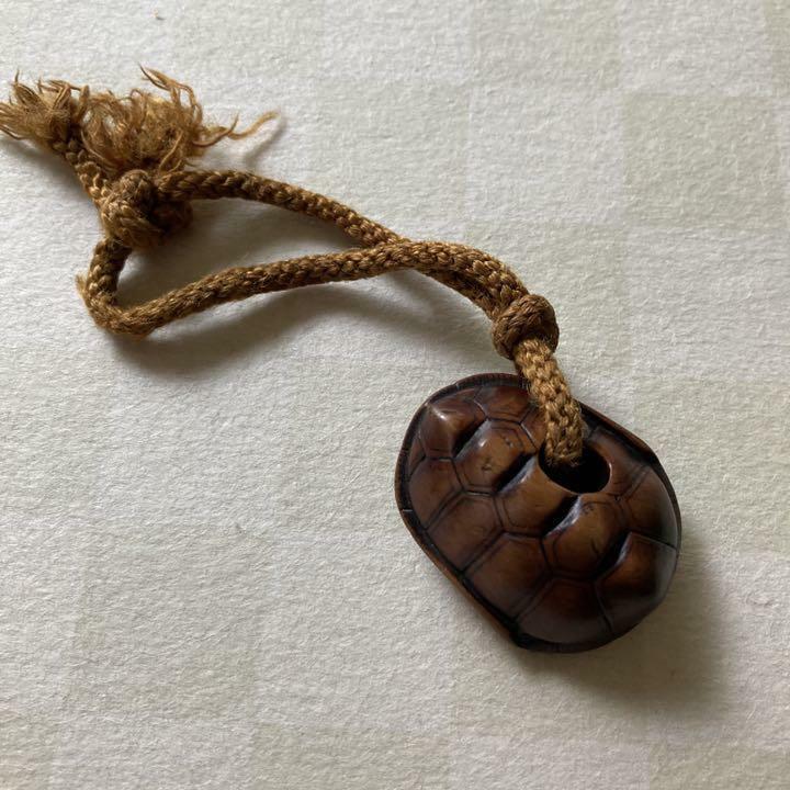 Netsuke Turtle Japanese Antique Ojime Old keychain Edo meiji Vintage