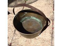 Large Brass Preserve Pan