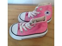 Pink Converse (Infant size 3)