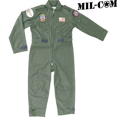 CLEARANCE MIL-COM KIDS FLYING SUIT AGE 3-12 BOYS ARMY PILOT FANCY DRESS OVERALLS (Boys Suits Clearance)