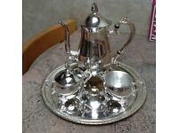 Old regency vintage silver plated coffee set