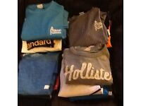 Selection of mans gym tops and teeshirts size small