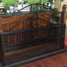 Queen Size Solid Steel & Wood Bed Frame @ Logan Woodridge Logan Area Preview