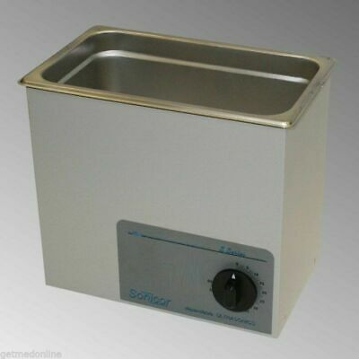 New Sonicor Stainless Steel Tabletop Ultrasonic Cleaner 0.75 Gal  S-100t