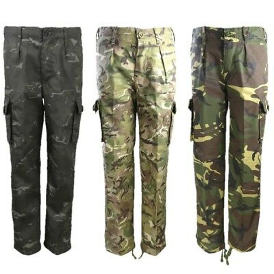 KIDS ARMY CAMO TROUSERS BOYS AGE 3-13 BOYS - Kinder Army Outfits