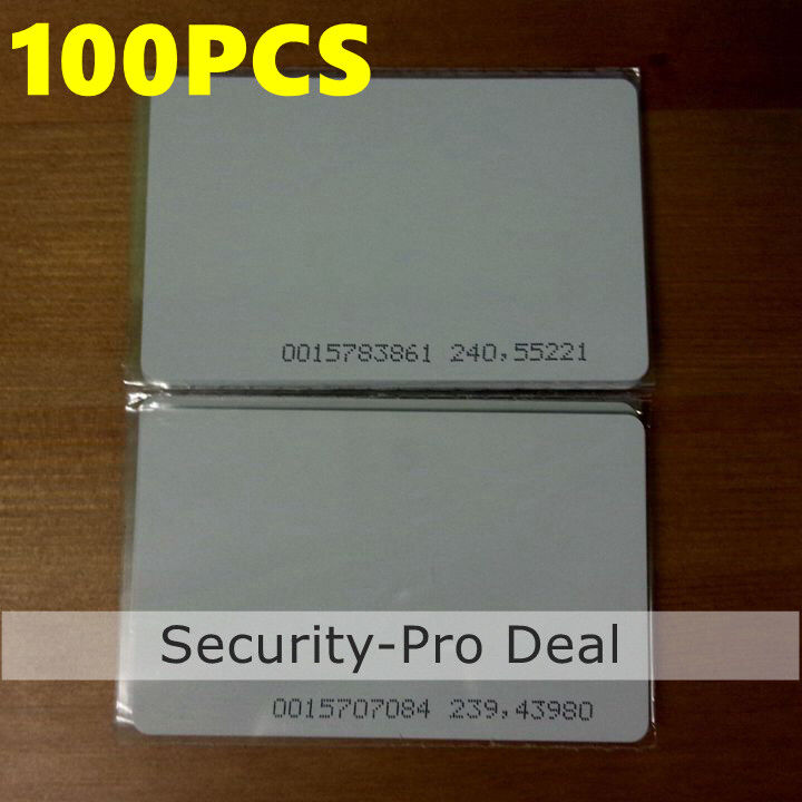RFID 125Khz EM4100 Proximity ID Cards Door Entry for Access Control System