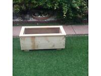 Reclaimed wooden planter box