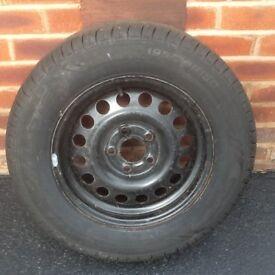 Caravan spare wheel new