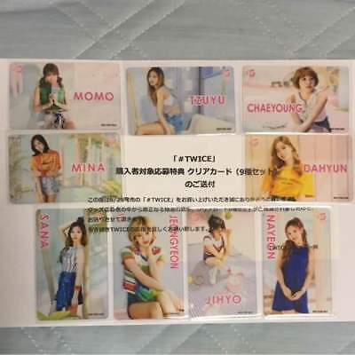 SR Complete Set of 9 - # TWICE Transparent PhotoCard - Japan LE 200 Not fr Sale