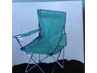 FOLDING CAMPING/FISHING CHAIR WITH CUP HOLDERS, BRAND NEW