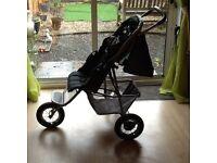 Black pushchair & car seat