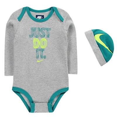 Nike Baby Set Body Mütze Langarmbody Strampler 6-9 Monate u. 9-12 Monate NEU Nike Baby Langarm