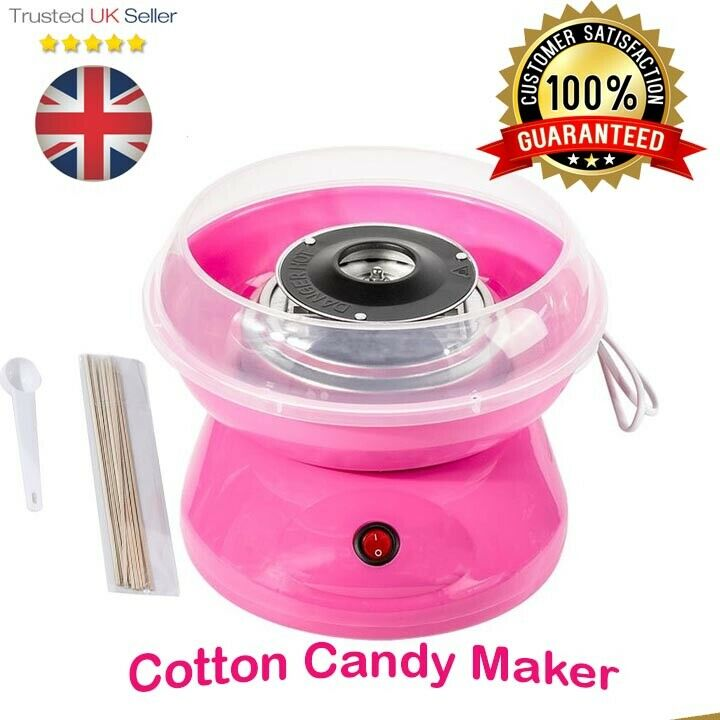 Cotton Candy Maker for Kids Cheap Candy Machine Maker Sugar Hard Candy Maker Cotton Candy Machine for Family Birthday Party Electric Cotton Candy Machine