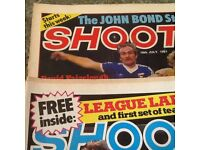 Shoot football comics from 1981 to 1985