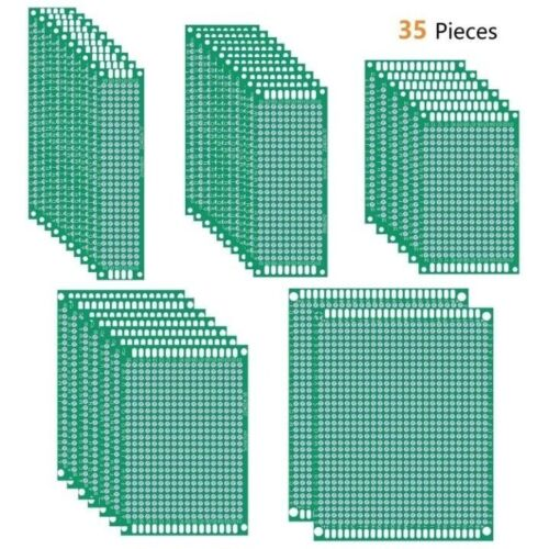 35Pcs Universal Printed Circuit Board with 5 Sizes for DIY Soldering QY21